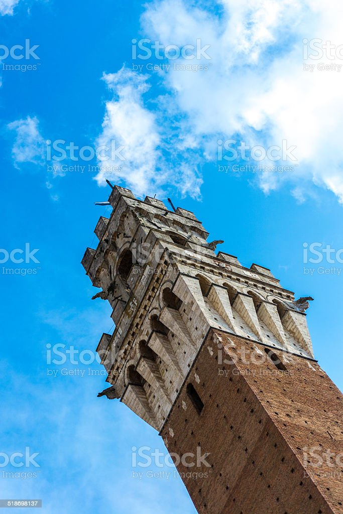 Town Hall - Torre del Mangia in Siena, Tuscany stock photo