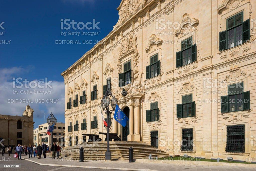 Town Hall (Auberge de Castille) Valletta, Capital City of Malta stock photo
