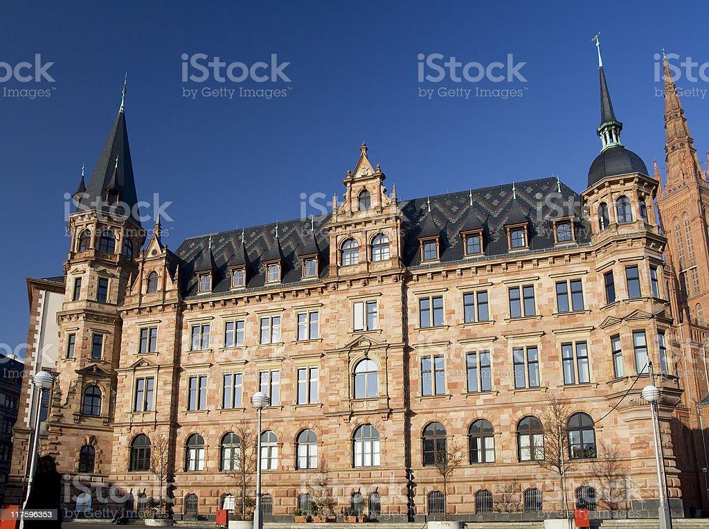 Town hall Wiesbaden stock photo