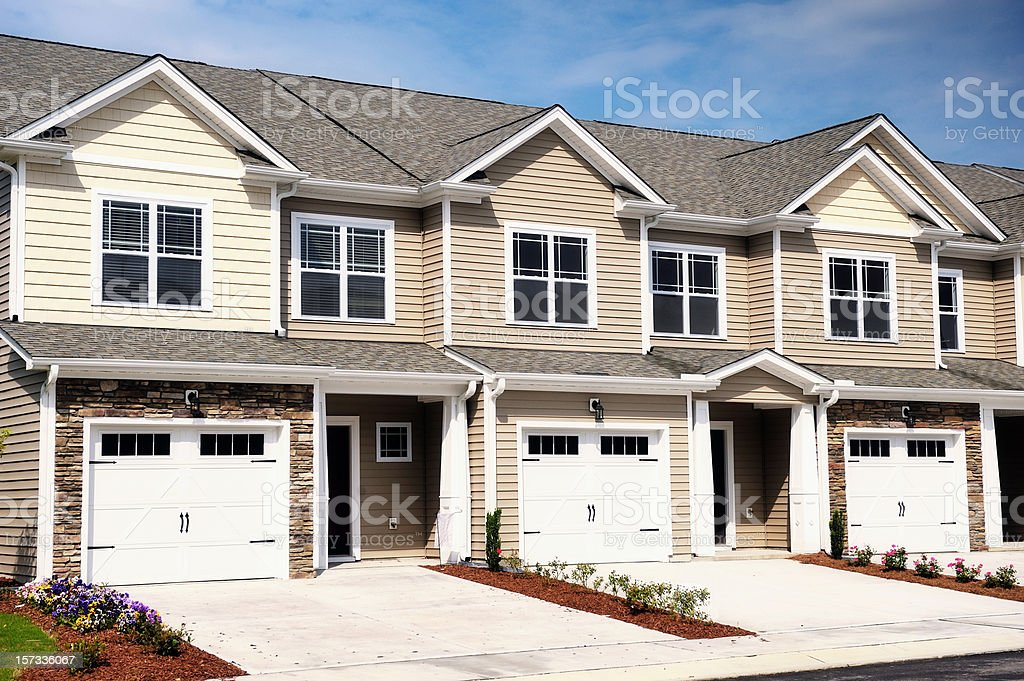 Town Homes stock photo