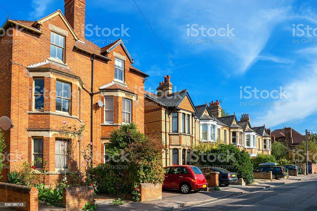 Town houses. Oxford, England stock photo
