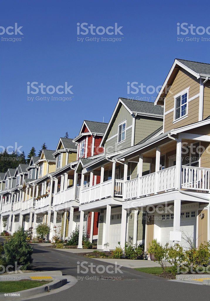 Town Houses stock photo