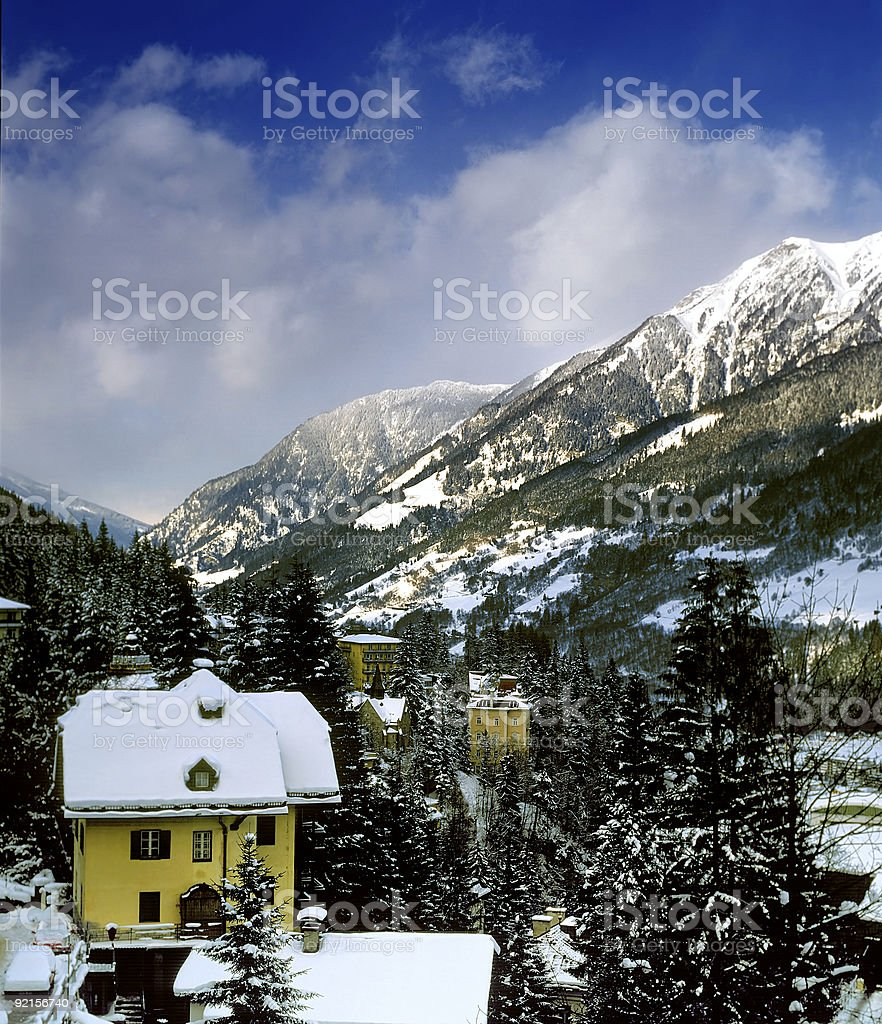 Town in Alps royalty-free stock photo