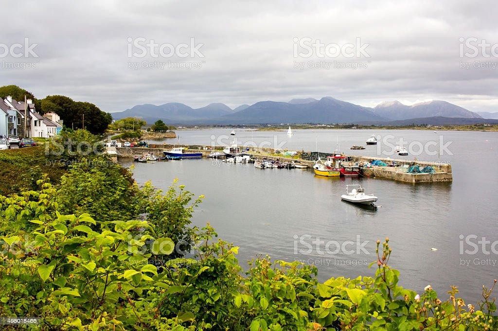 Town in Connemara, Ireland stock photo