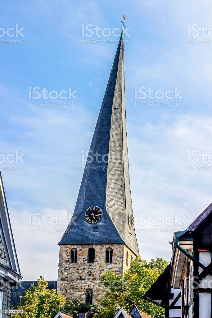 Town in Hattingen royalty-free stock photo