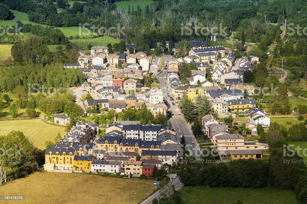 town in  Pyrenees. Castejon de Sos royalty-free stock photo