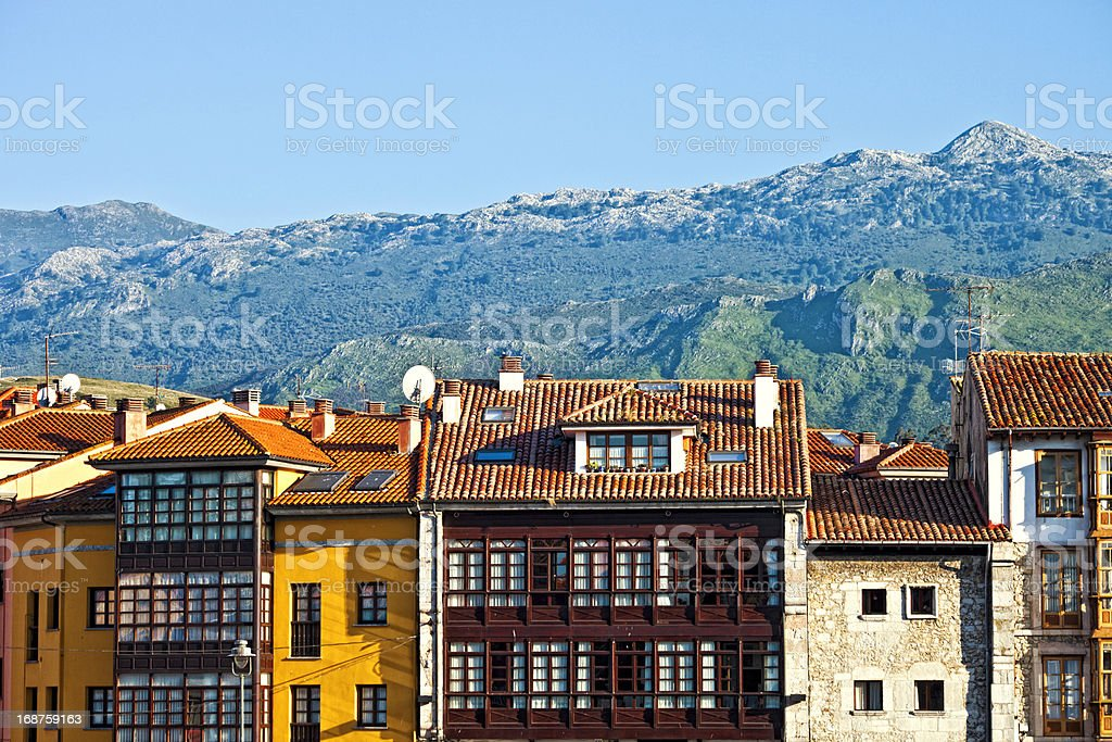 Town in Spain. stock photo