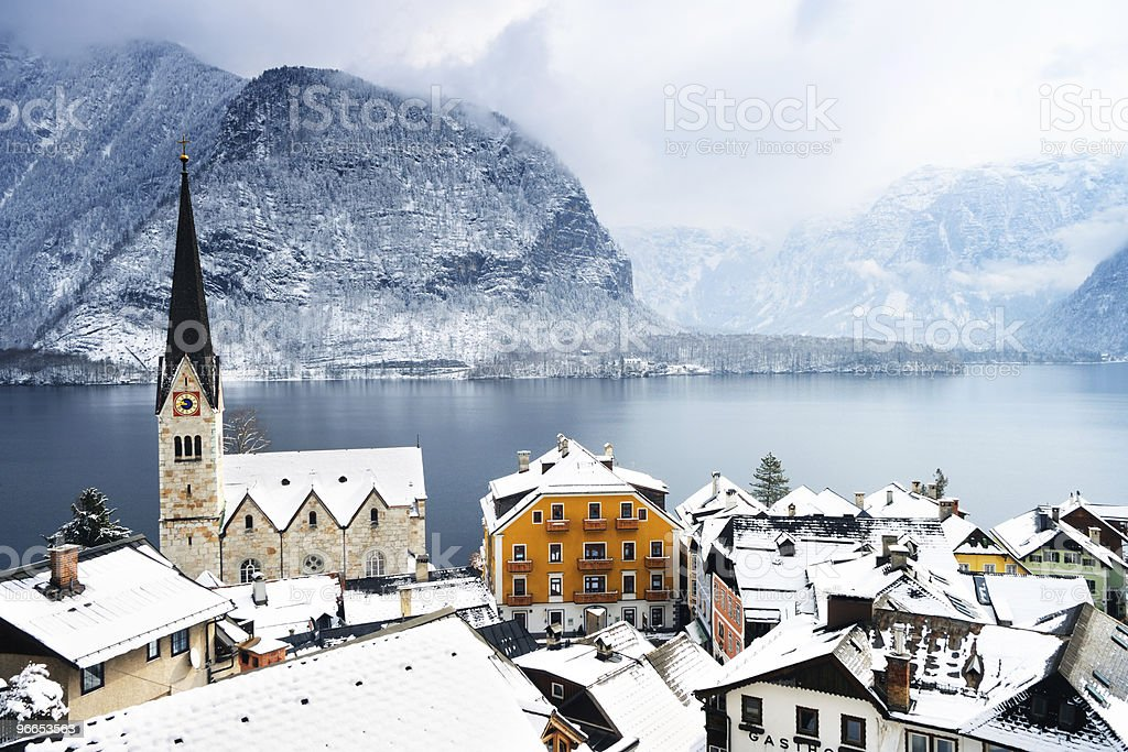 Town in the high mountains royalty-free stock photo