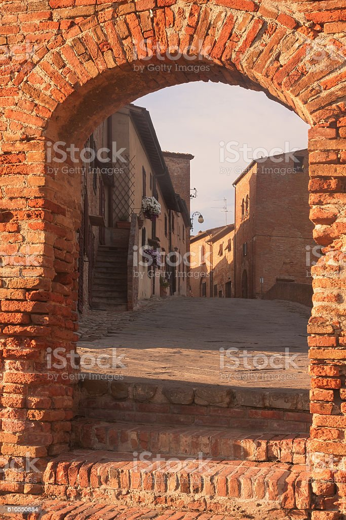 Town in Tuscany, Italy stock photo