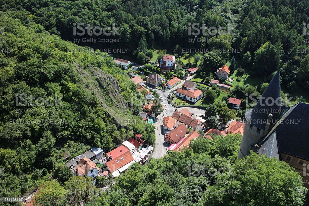 Town Karlstein stock photo