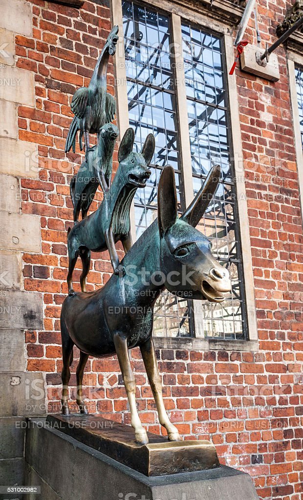 Town Musicians of Bremen stock photo