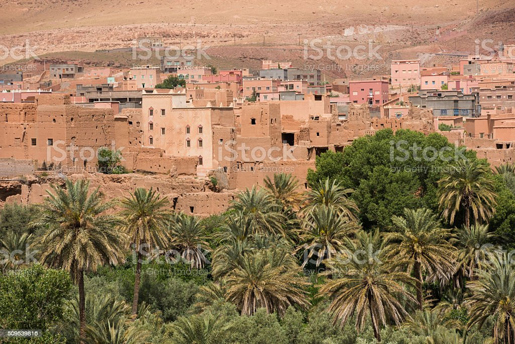 Town Near Todra Gorge In Morocco stock photo