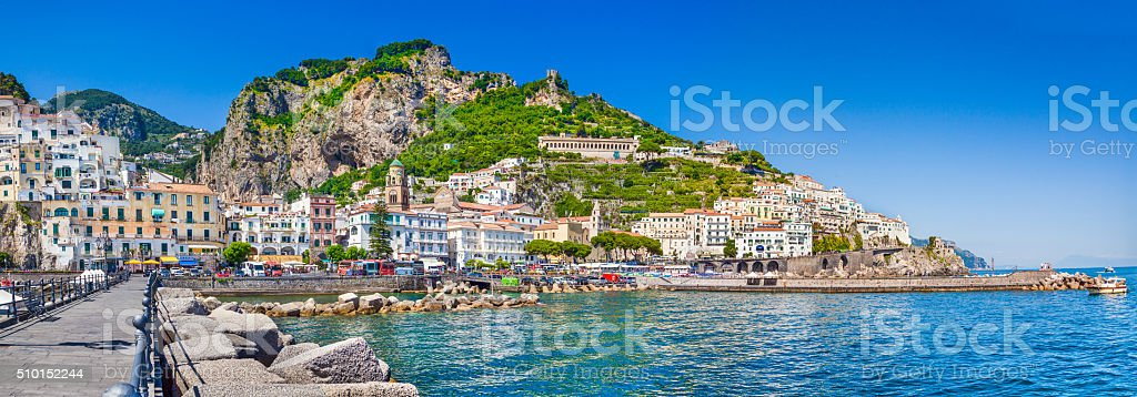 Town of Amalfi, Amalfi Coast, Campania, Italy stock photo