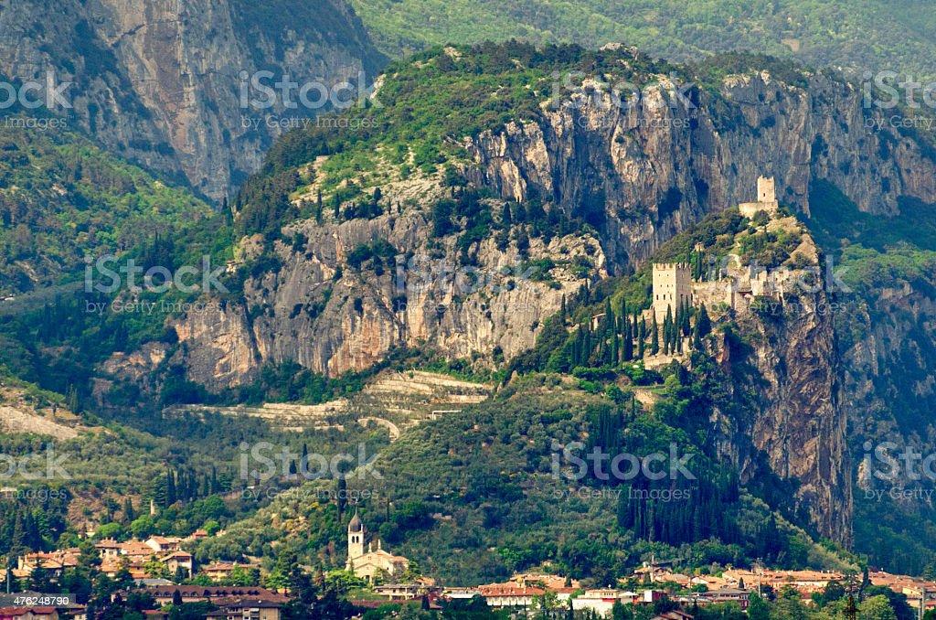 Town of Arco (Trentino, Italy) near Lake Garda stock photo