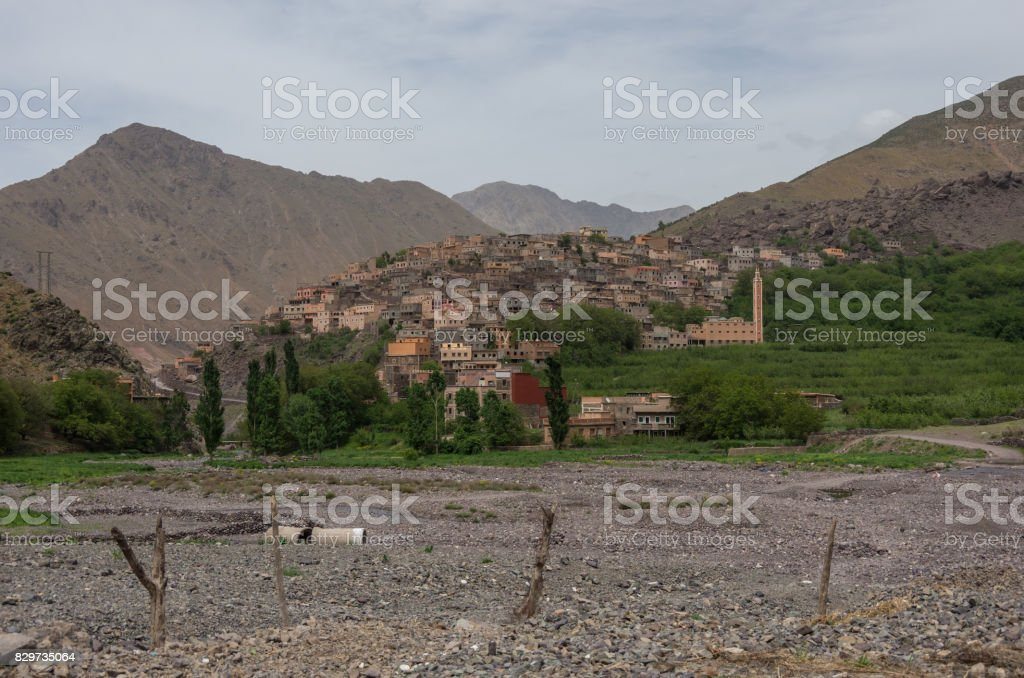 Town of Aroumd, Toubkal national park, Morocco stock photo
