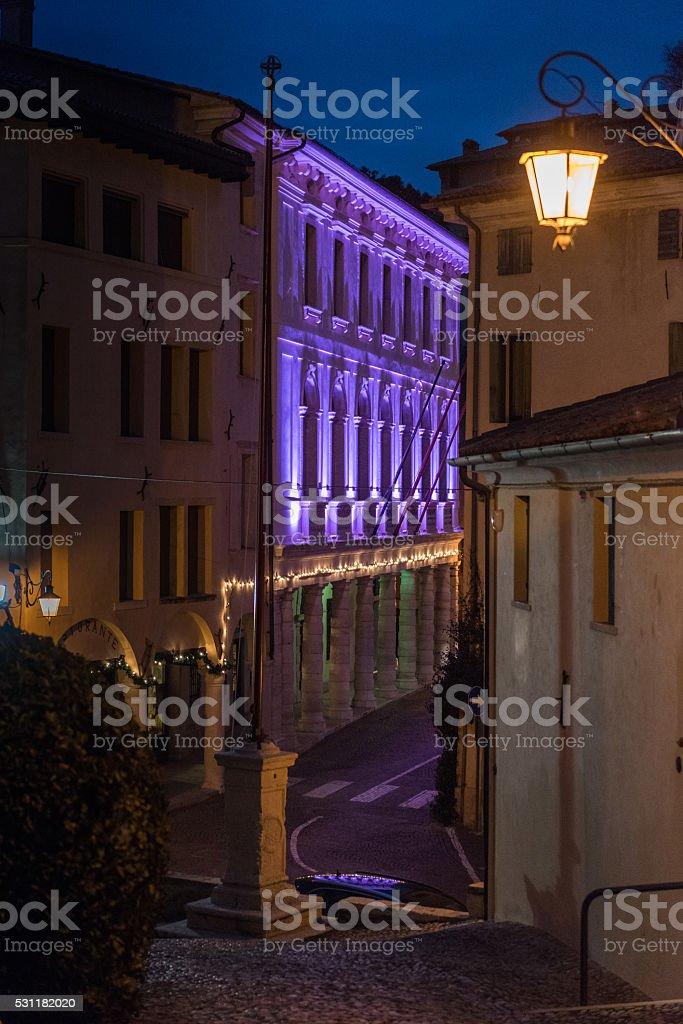 town of Asolo stock photo