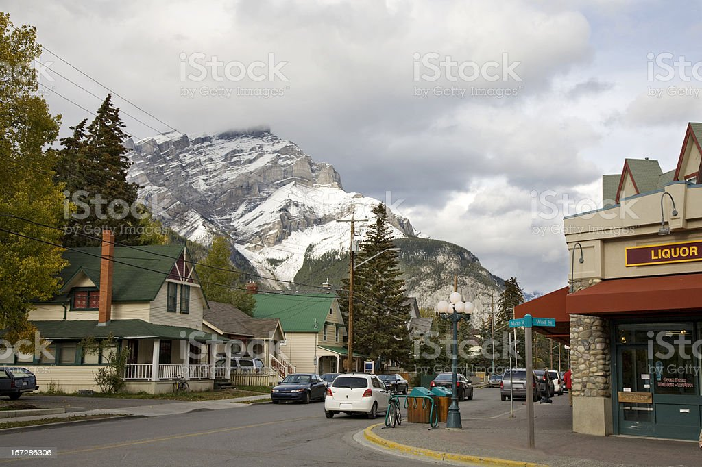 Town of Banff royalty-free stock photo