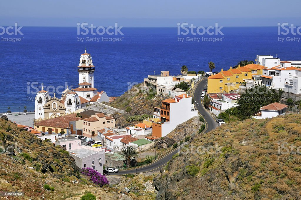 Town of Candelaria at Tenerife stock photo
