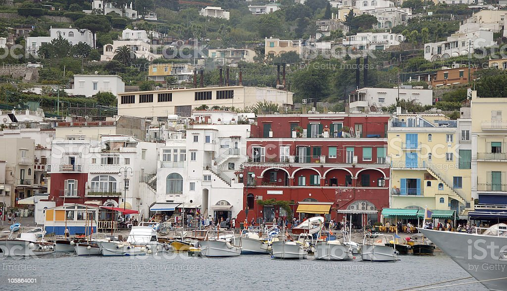 Town of Capri royalty-free stock photo