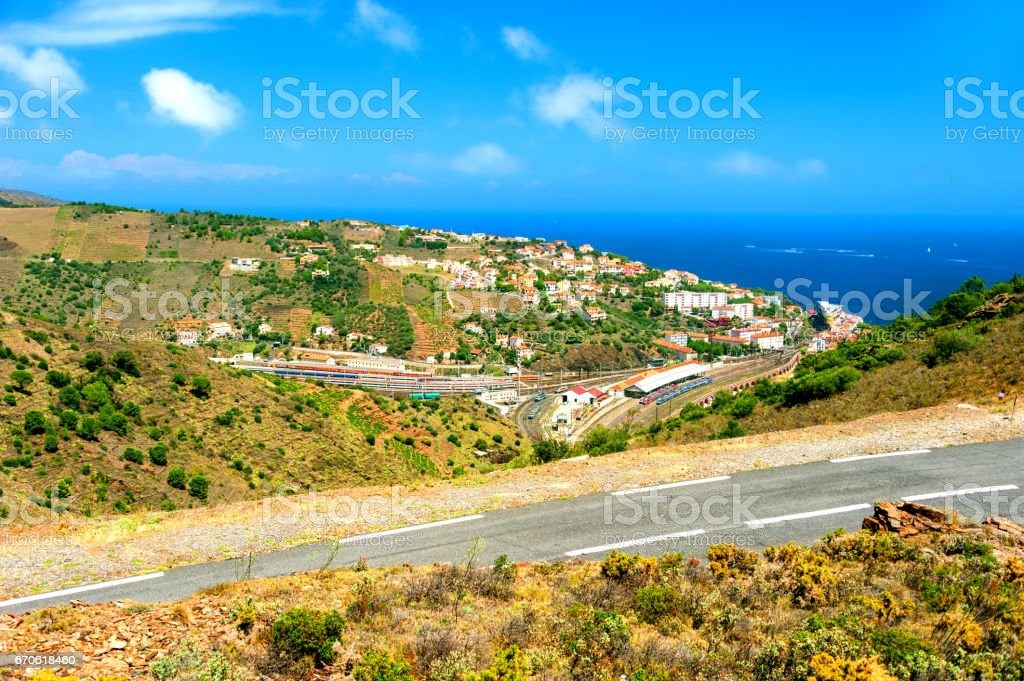 Town Of Cerbere, France stock photo