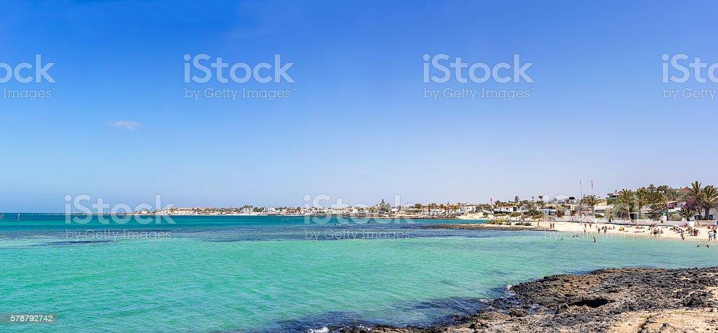 Town of Corralejo stock photo