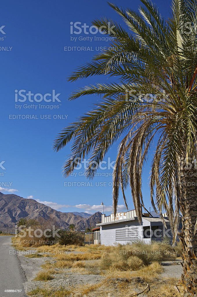 Town of Desert Shores, closed business, Southern California, USA stock photo