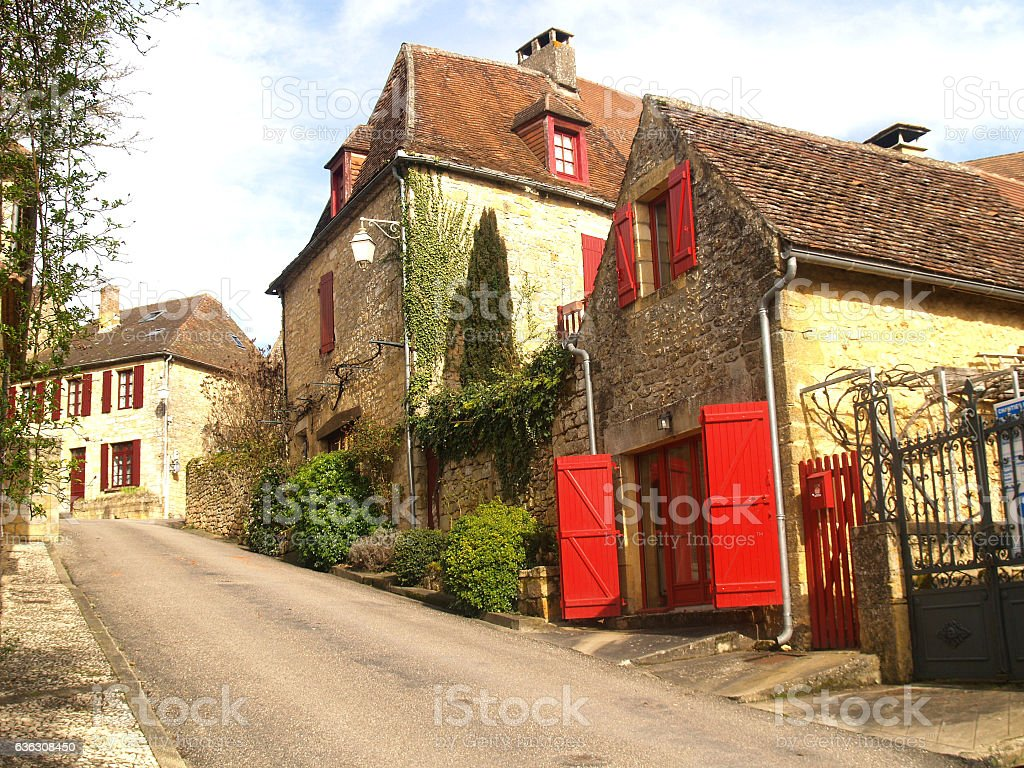 Town of domme stock photo
