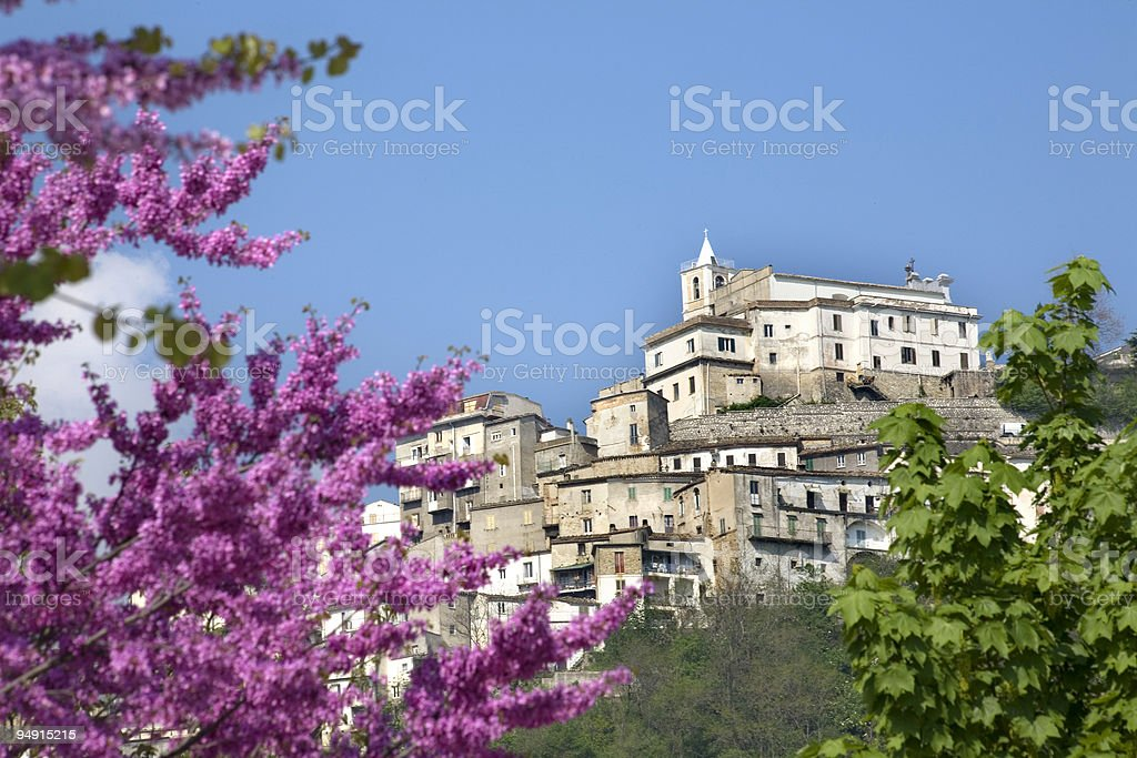 Town of Farindola royalty-free stock photo