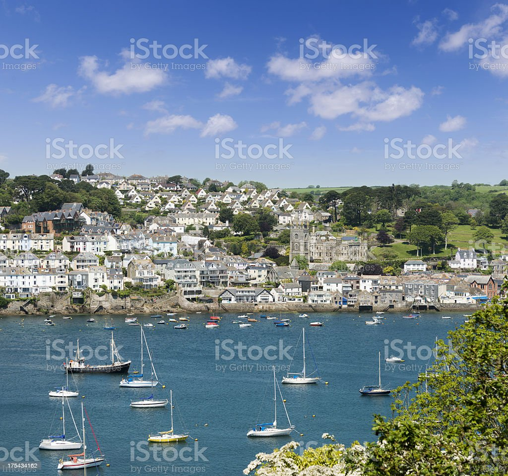 Town of Fowey in Cornwall UK stock photo