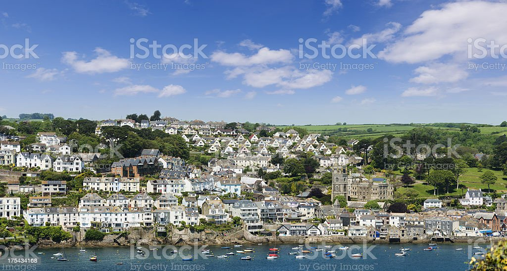 Town of Fowey in Cornwall UK royalty-free stock photo