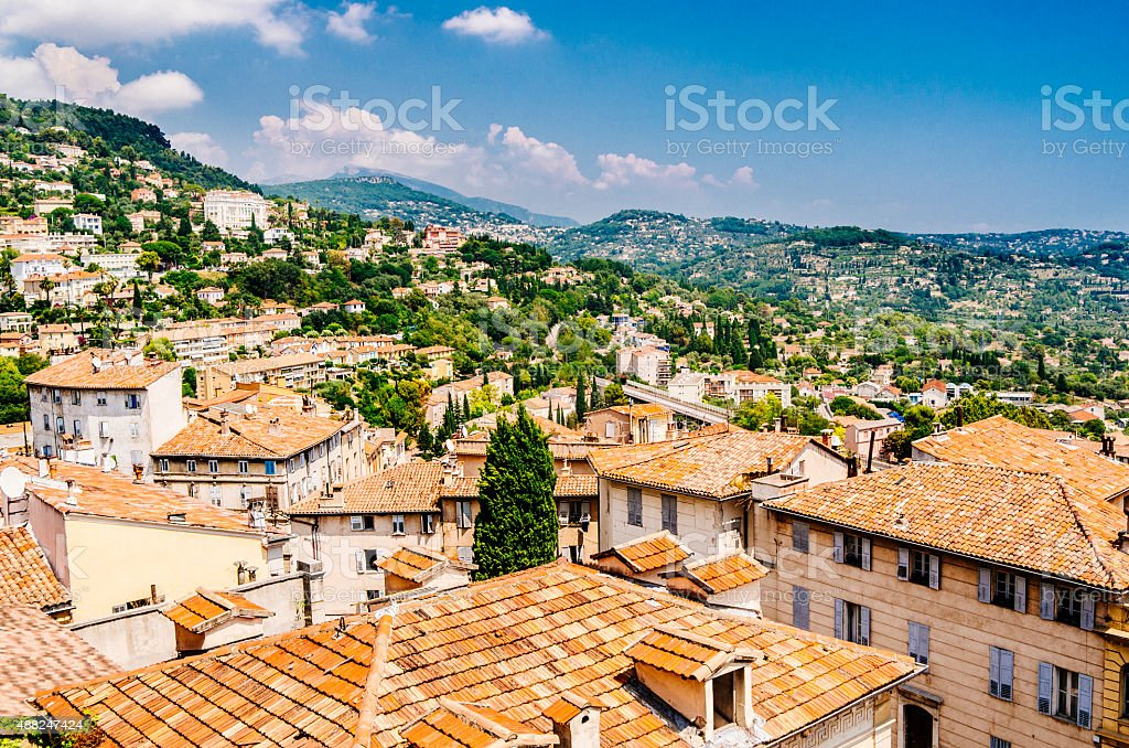 Town of Grasse, France stock photo