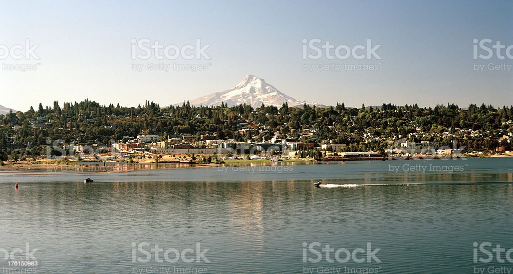 Town of Hood River, Oregon, United States stock photo
