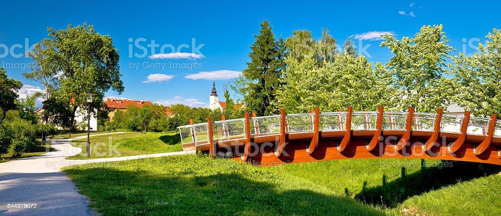 Town of Jastrebarsko park view stock photo