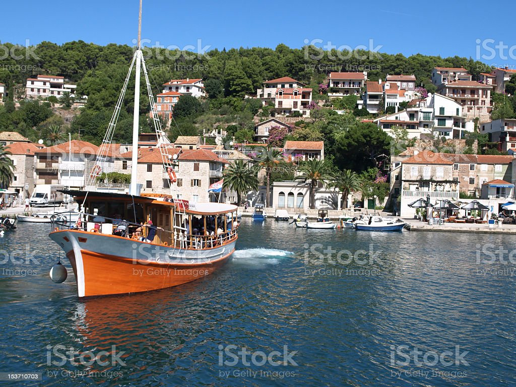 Town of Jelsa stock photo