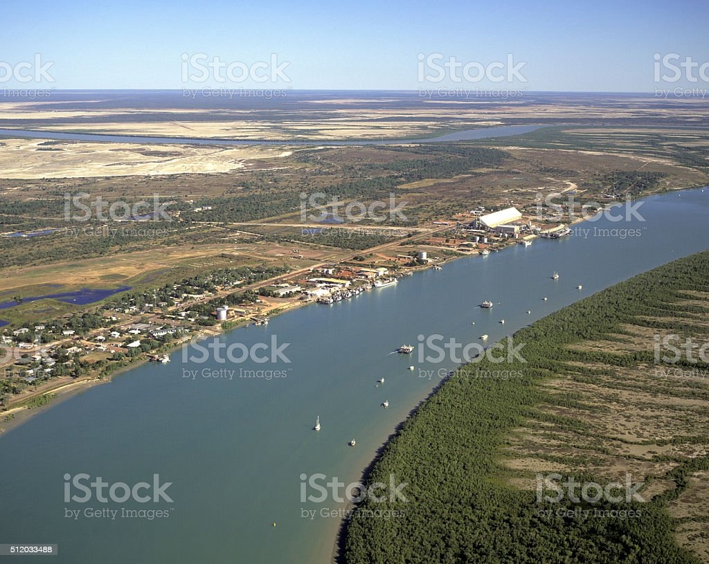 Town of Karumba stock photo
