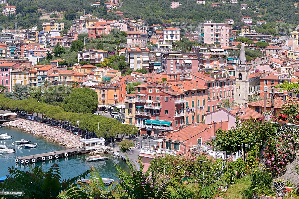 Town of Lerici in Italy stock photo