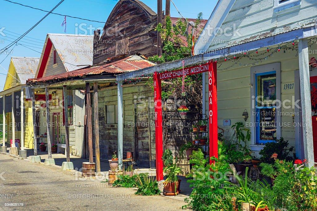 Town of Locke, California stock photo