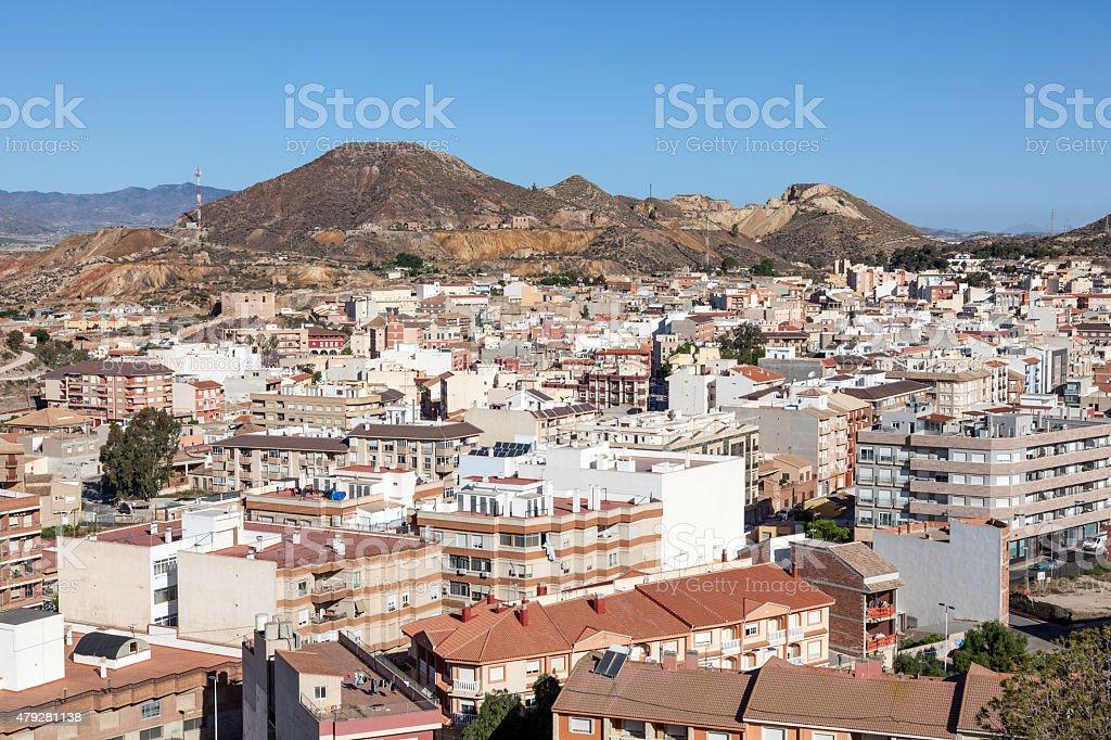 Town of Mazarron, Spain stock photo