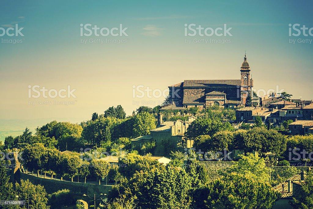 Town of Montalcino in Tuscany, Italy royalty-free stock photo