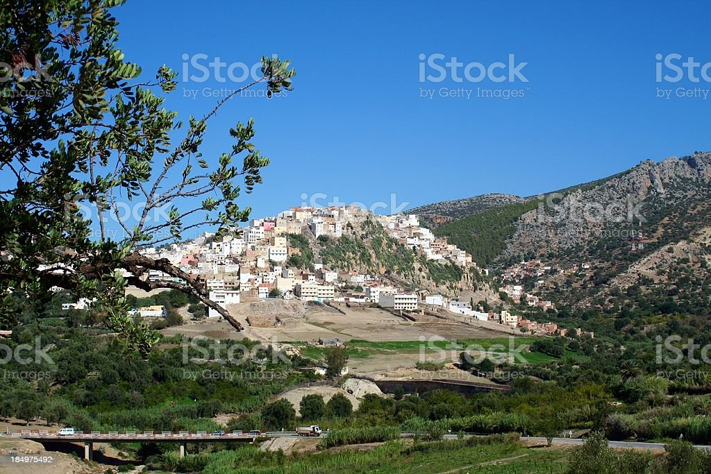 Town of Moulay Idriss - Morocco stock photo