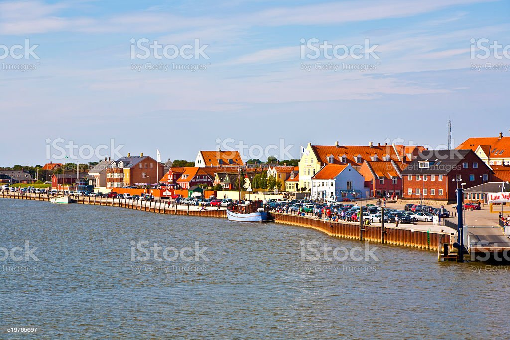 town of Nordby on the island of Fano in Denmark stock photo