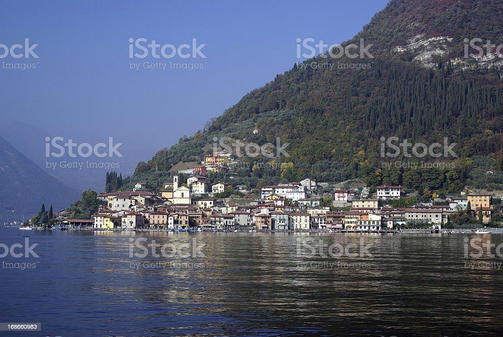 Town of Peschiera, Iseo lake, Italy stock photo