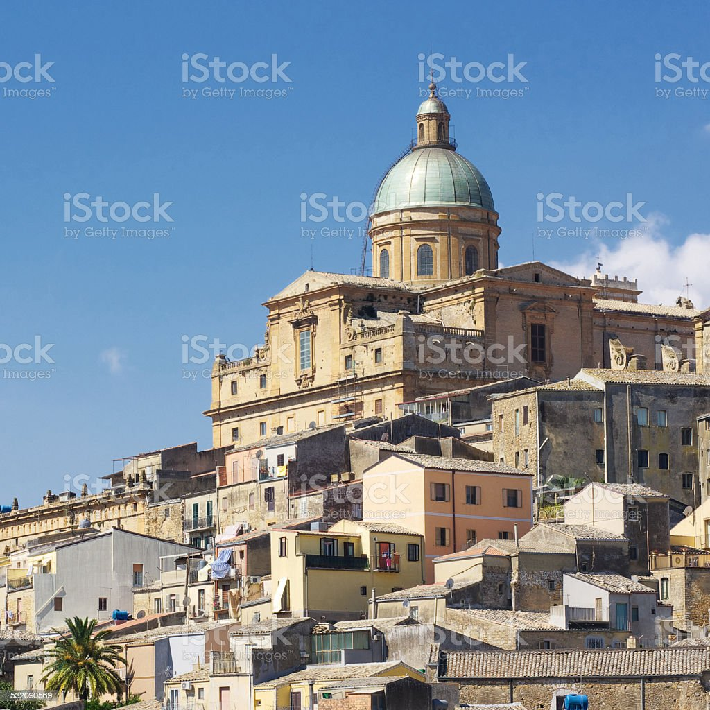 Town of Piazza Armerina and its Cathedral stock photo