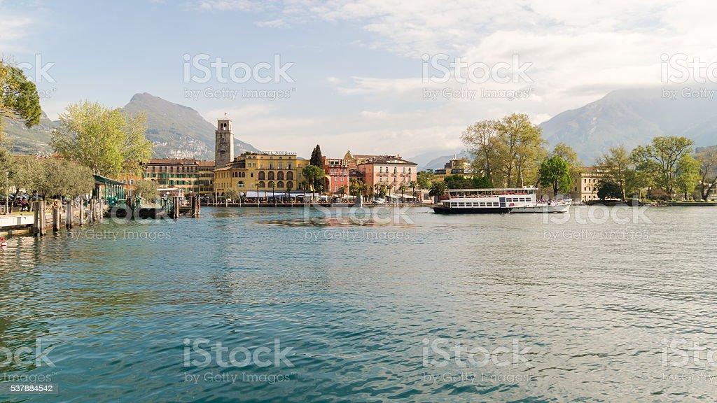 Town of Riva del Garda, Lake Garda, Italy. stock photo