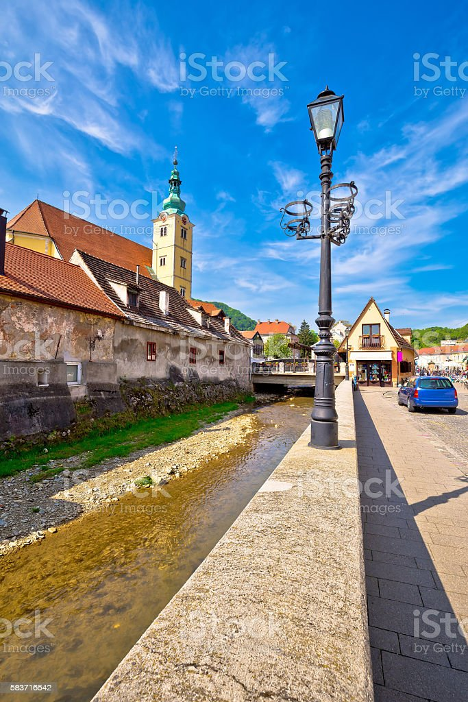 Town of Samobor architecture vertical view stock photo