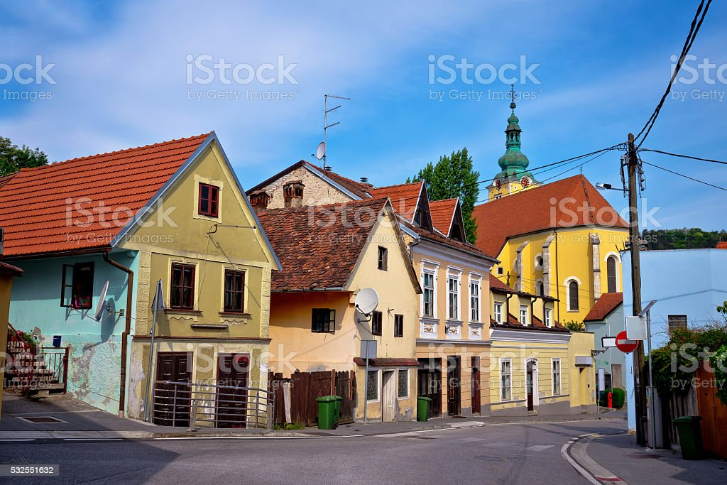 Town of Samobor colorful old street stock photo