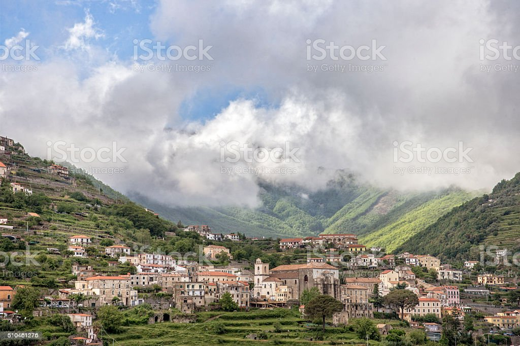 Town of Scala Campania Italy on the Amalfi Coast stock photo