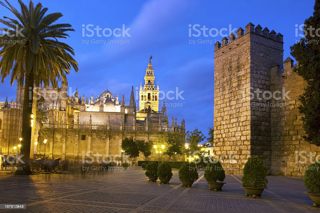 Town of Seville stock photo