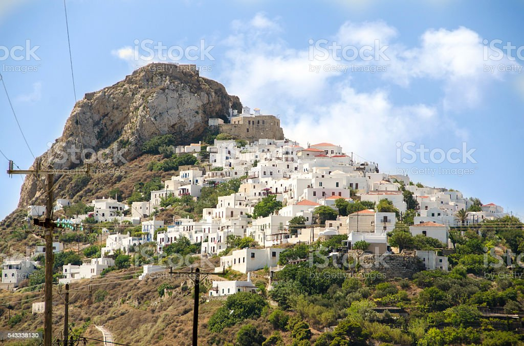 Town of Skyros island stock photo