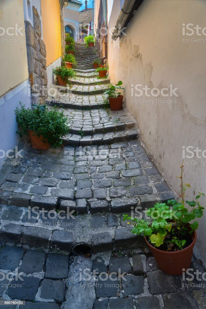 Town of Szentendre in Hungary stock photo